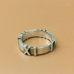 Tiffany & Co. Sterling 925 Atlas Us Numerals Ring